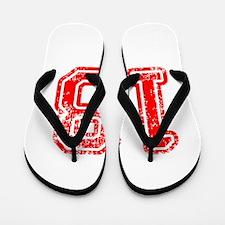 18-Col red Flip Flops