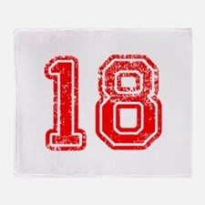 18-Col red Throw Blanket