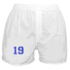 19-Col blue Boxer Shorts