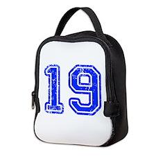 19-Col blue Neoprene Lunch Bag