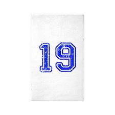 19-Col blue Area Rug