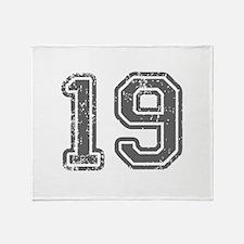 19-Col gray Throw Blanket