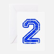 2-Col blue Greeting Cards