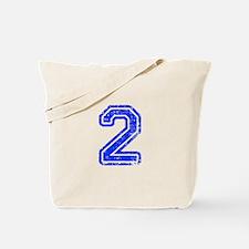 2-Col blue Tote Bag