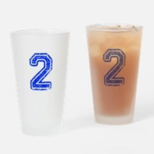 2-Col blue Drinking Glass