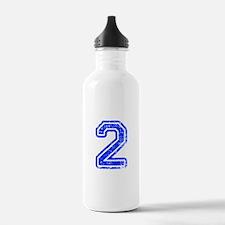 2-Col blue Water Bottle