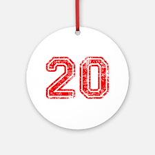 20-Col red Ornament (Round)