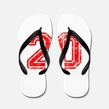 20-Col red Flip Flops