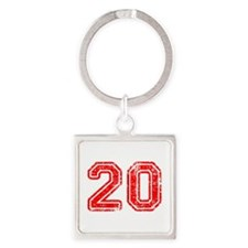20-Col red Keychains