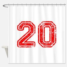 20-Col red Shower Curtain