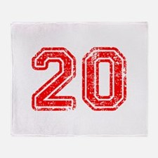 20-Col red Throw Blanket