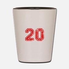 20-Col red Shot Glass