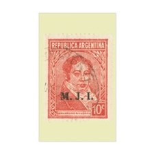 Argentinean Stamp - Rectangle Decal