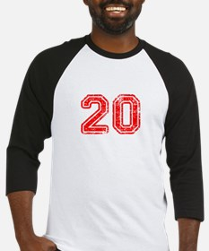 20-Col red Baseball Jersey