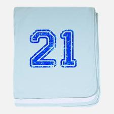 21-Col blue baby blanket