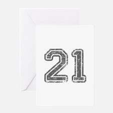 21-Col gray Greeting Cards