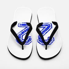 22-Col blue Flip Flops