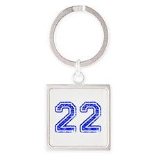 22-Col blue Keychains