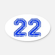 22-Col blue Oval Car Magnet