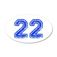 22-Col blue Wall Decal