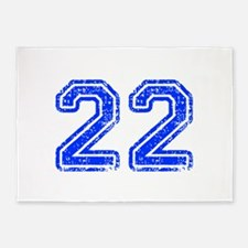22-Col blue 5'x7'Area Rug