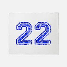 22-Col blue Throw Blanket