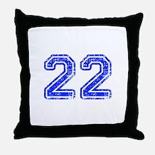 22-Col blue Throw Pillow