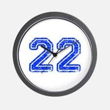 22-Col blue Wall Clock