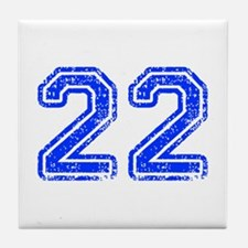 22-Col blue Tile Coaster