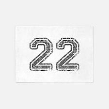 22-Col gray 5'x7'Area Rug