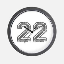 22-Col gray Wall Clock