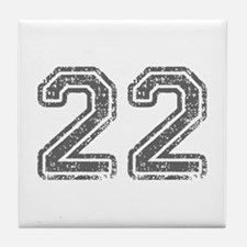 22-Col gray Tile Coaster
