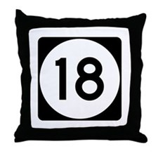 Highway 18, Mississippi Throw Pillow