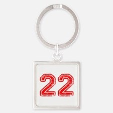 22-Col red Keychains