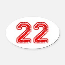 22-Col red Oval Car Magnet
