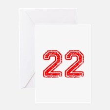 22-Col red Greeting Cards