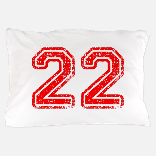 22-Col red Pillow Case