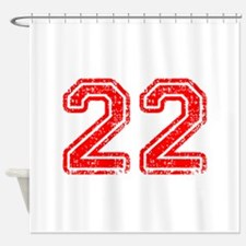 22-Col red Shower Curtain