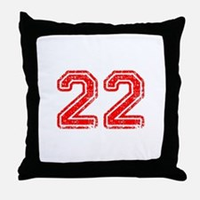 22-Col red Throw Pillow