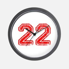 22-Col red Wall Clock