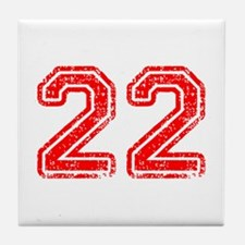 22-Col red Tile Coaster