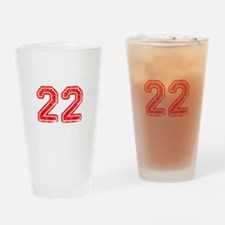 22-Col red Drinking Glass