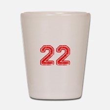22-Col red Shot Glass