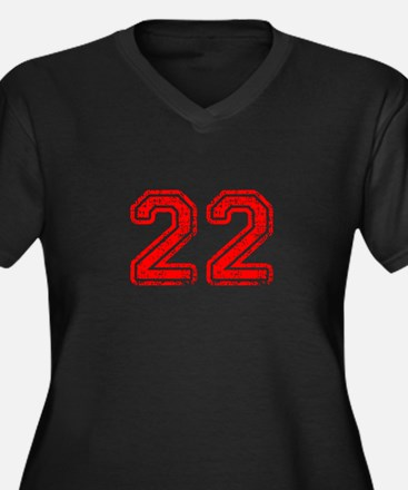 22-Col red Plus Size T-Shirt