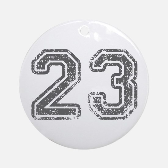 23-Col gray Ornament (Round)