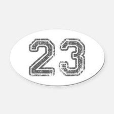 23-Col gray Oval Car Magnet