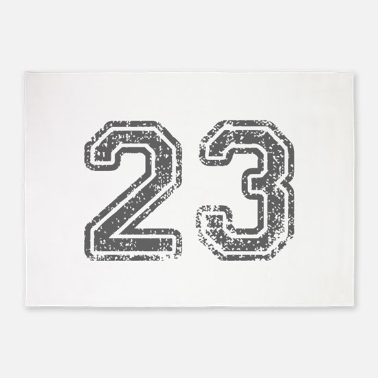 23-Col gray 5'x7'Area Rug