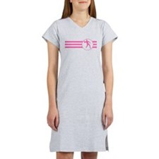 Racquetball Player Stripes (Pink) Women's Nightshi