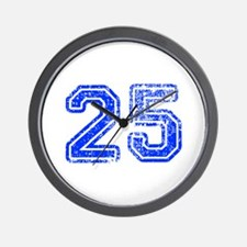 25-Col blue Wall Clock