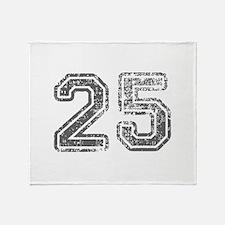 25-Col gray Throw Blanket